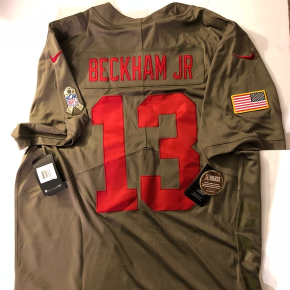 new style 01c9a 8780d Odell Beckham Jr Salute to Service Jersey NWT
